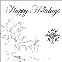 holiday table insert design
