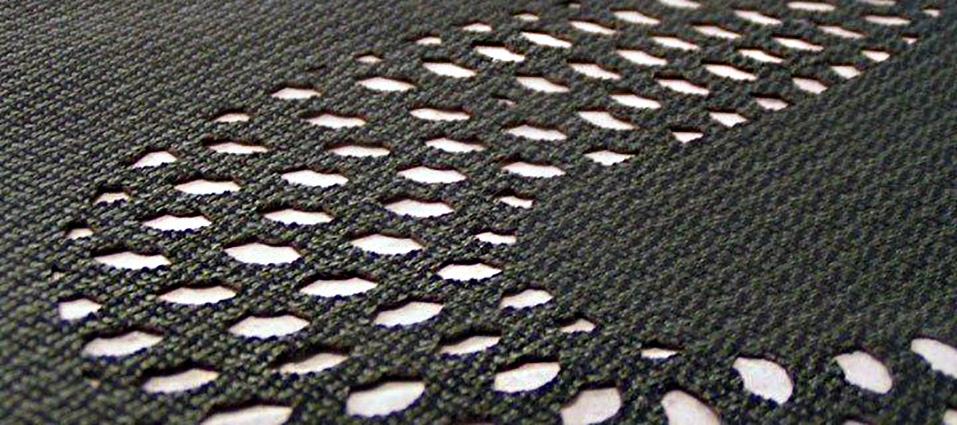Laser cut textile mesh