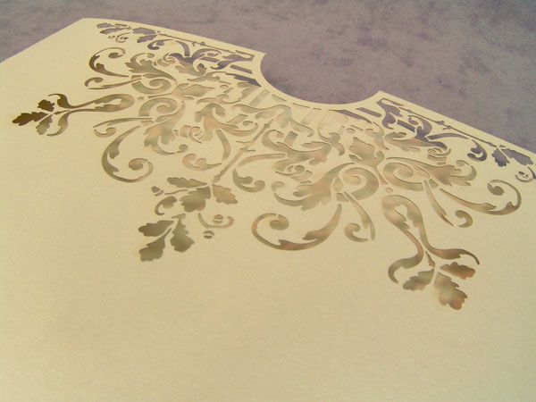laser cut envelope for wedding invitation