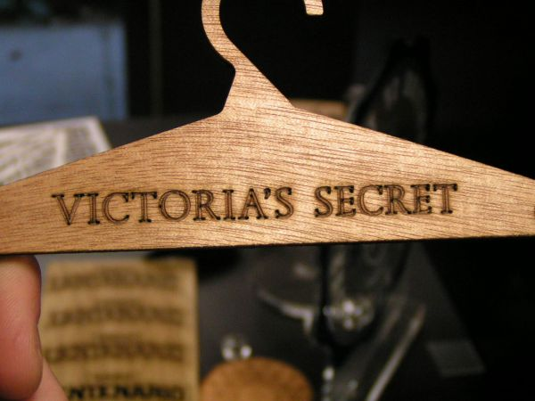 Wood engraved hanger