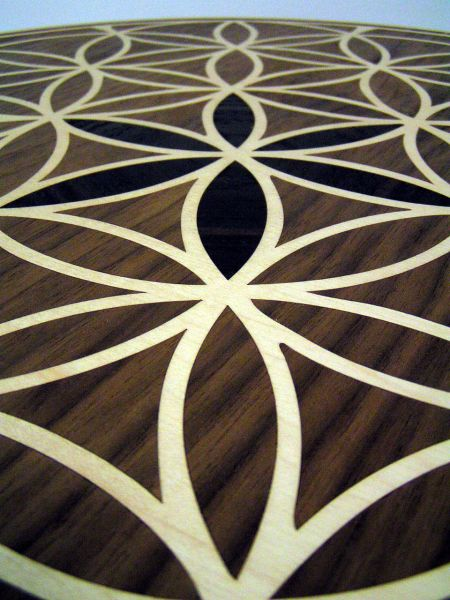 Laser Cut Table Top Marquetry