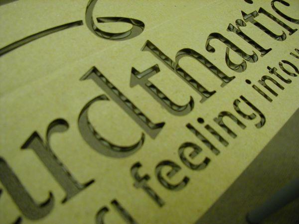 Laser Cut Engraved Cardboard