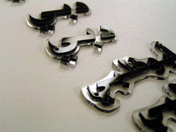 laser cut arabic letters