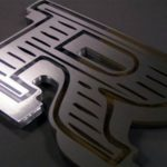 acrylic letter with vinyl face