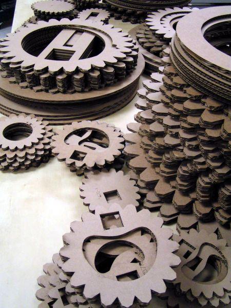 Laser Cut Cardboard Parts