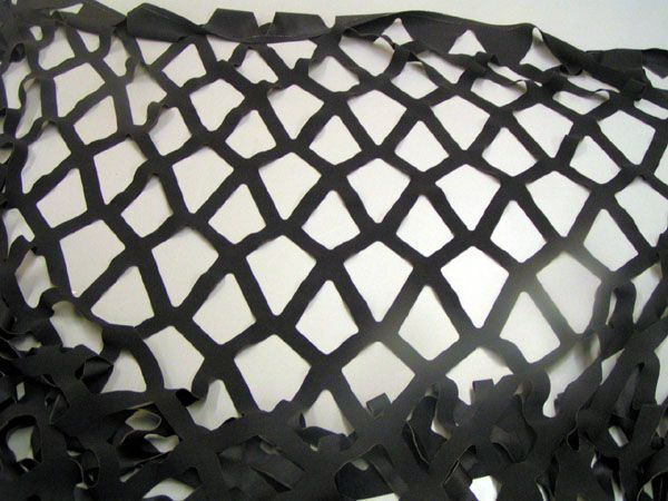 laser cut diamond pattern polyester