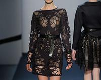laser cut neoprene dress for Michael Angel NYC