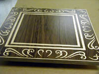laser cut veneer table top
