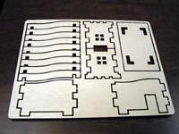 laser cut wood puzzle