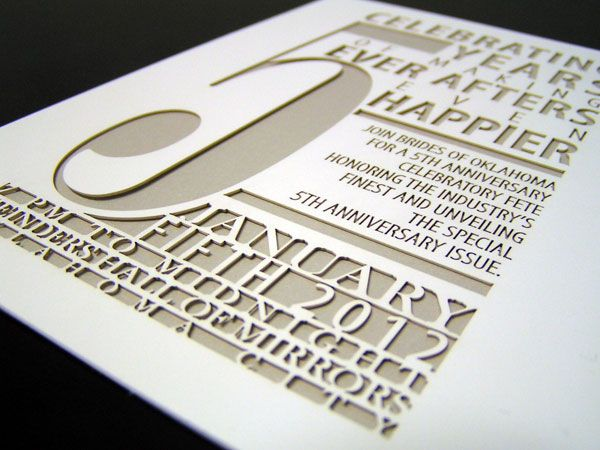 Laser cut event stationery