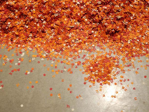 laser cut million paper letters