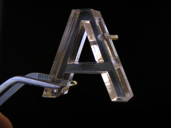 small laser cut letter w pins