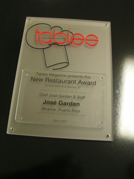 Custom award for a food review magazine