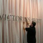 Sign installation at Victoria's Secret headquarters
