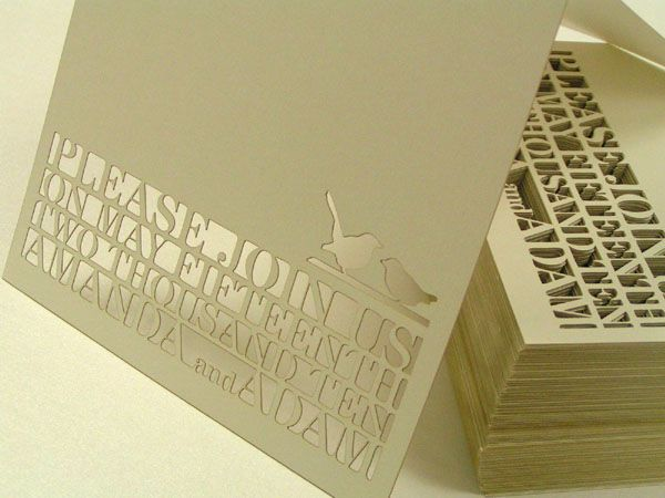 custom laser cut wedding invite