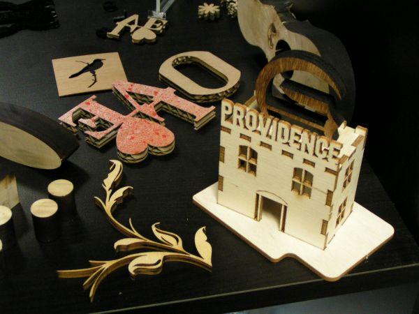 laser cut plywood model