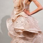 Laser Cut Dress for Marchesa