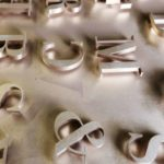 Laser cut letters