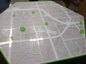 Huntington Bank Laser Cut acrylic map