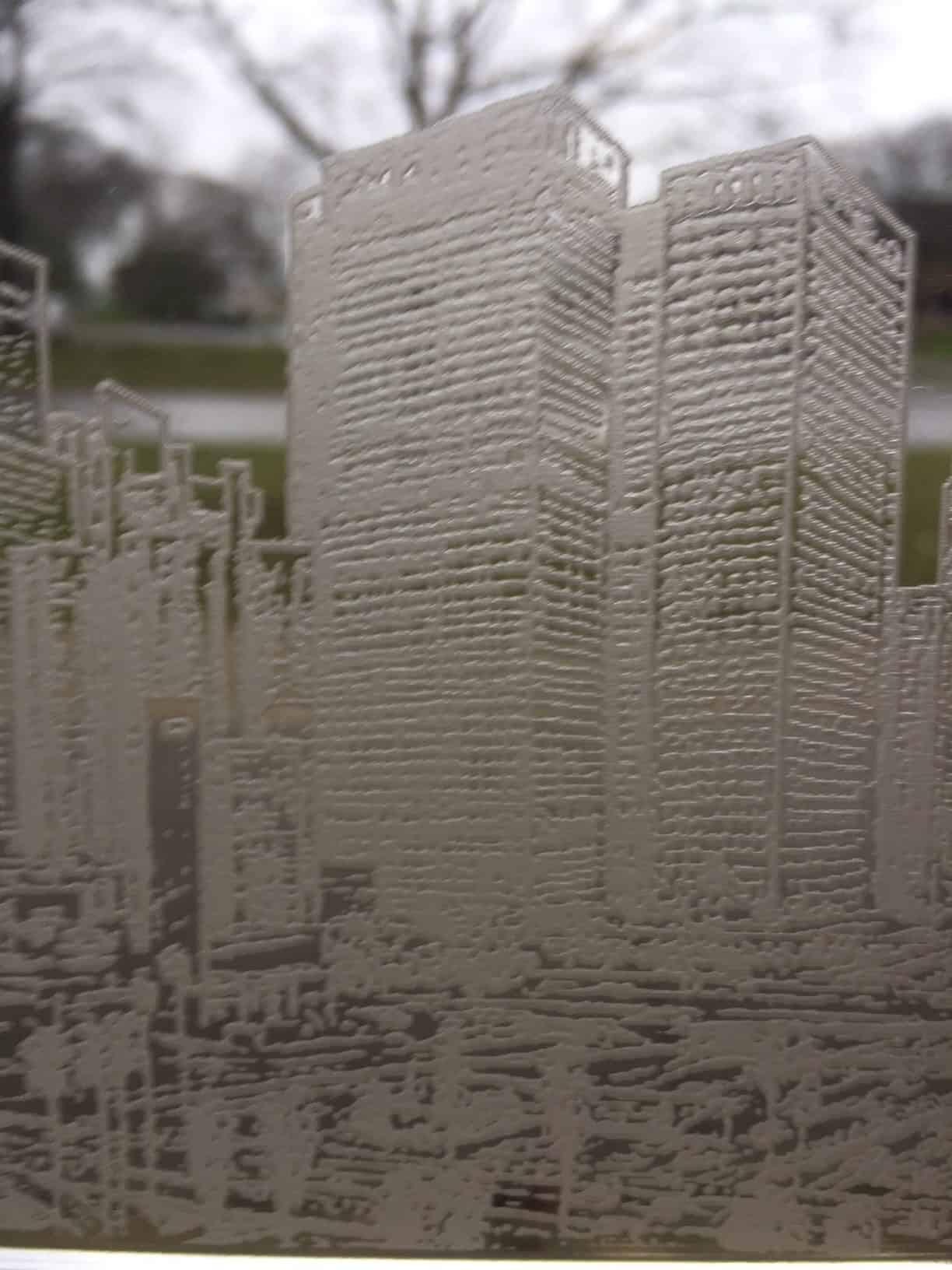 Laser Engraved L.A. Skyline on Acrylic