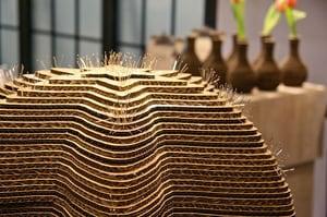 Laser Cut Corrugated Cardboard Cacti