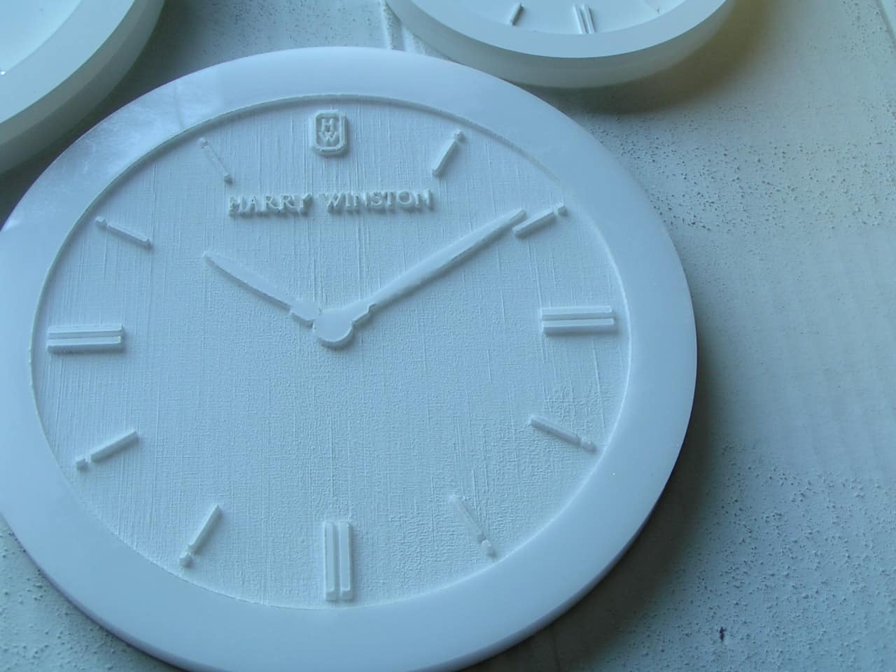 laser cut and engraved signage for Harry Winston watches