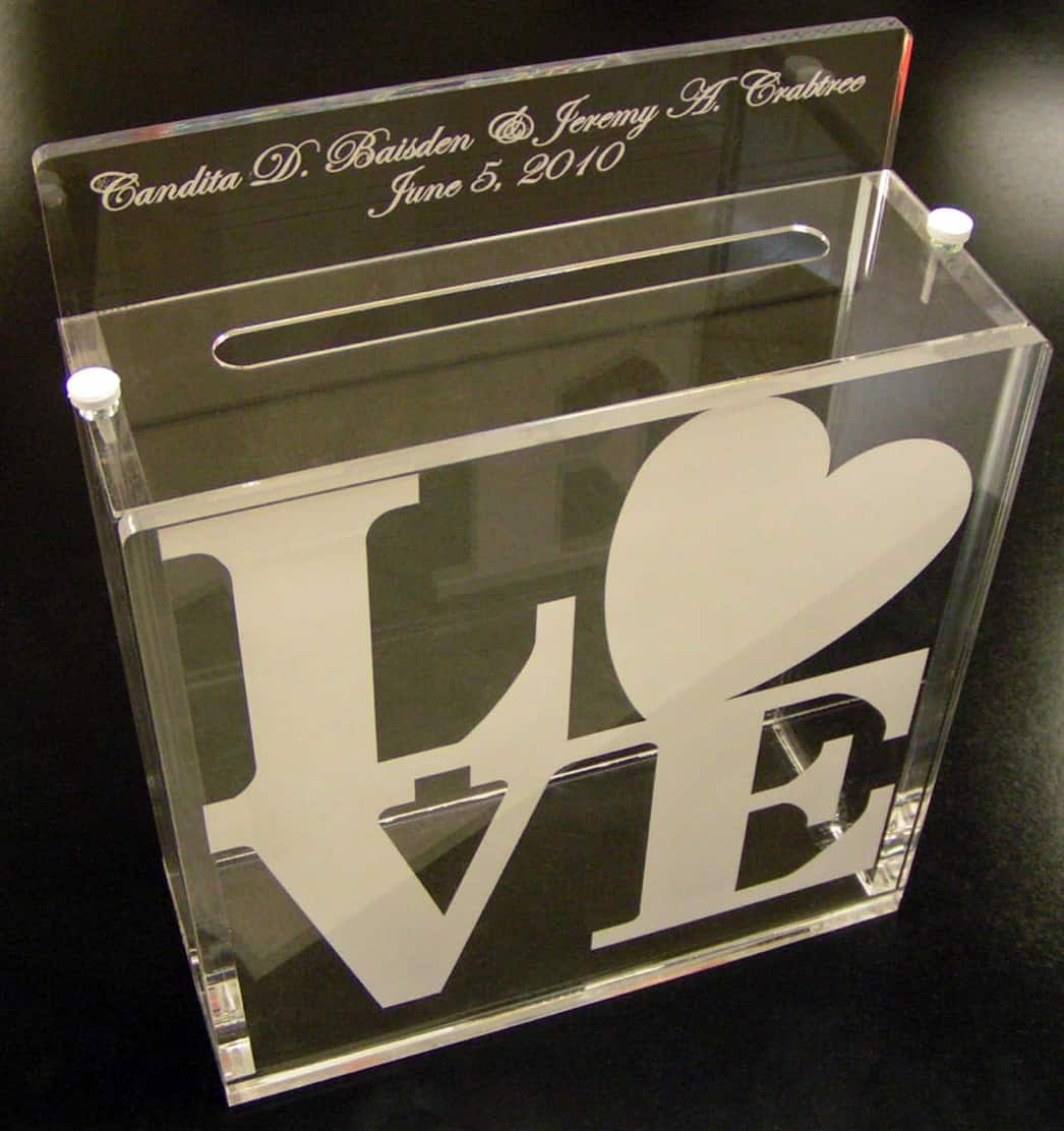 Custom laser cut wedding gift box