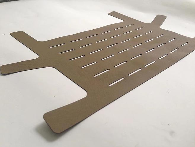 Laser Cut Hypalon Component of Military Tactical Vest