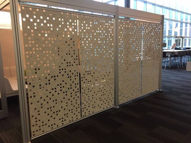 Custom Room Divider by Laser Cutting Shapes