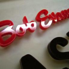 3D Company Sign Laser Cut for Bob Evans