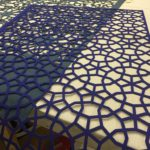 Laser Cut Felt Wall Covering
