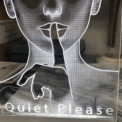 Lase Cut Company Engraved Acrylic LED Light Sign