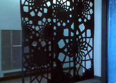 Custom Laser Cut Felt Room Divider