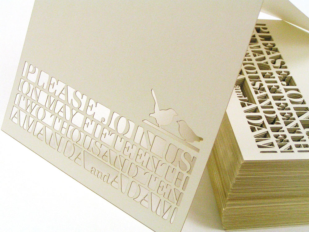 Custom Laser Cut Wedding Invitation Card