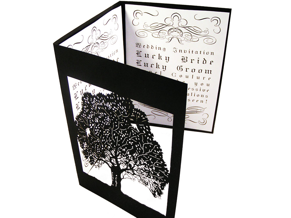 Custom Wedding Tri Fold Invitation Card Cover