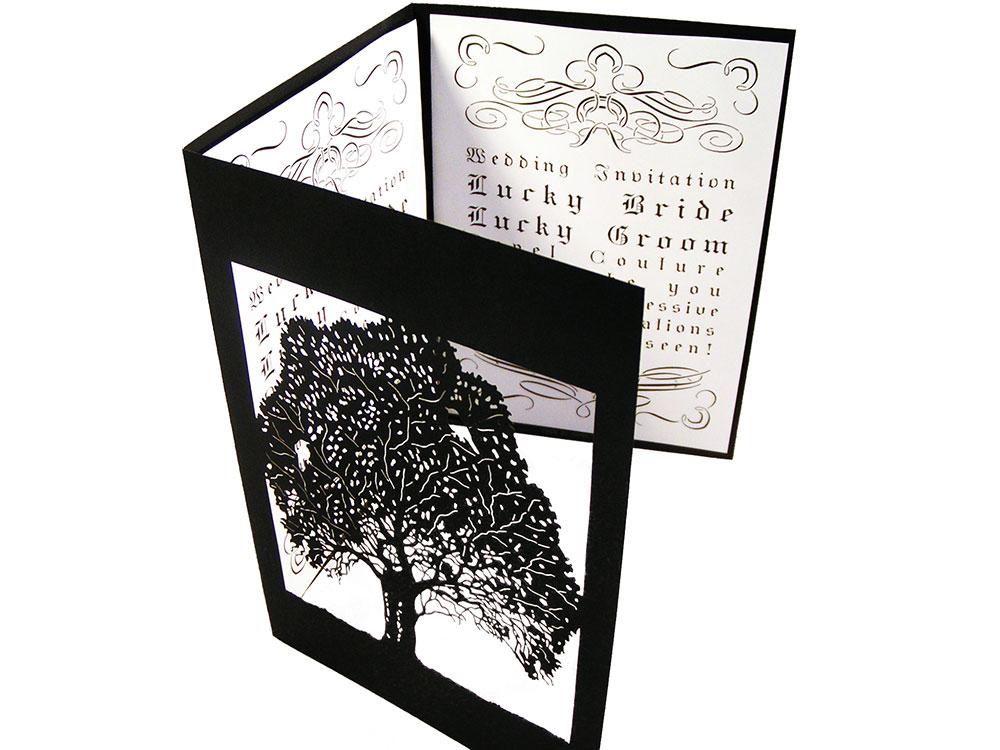 Custom Wedding Tri Fold Invitation Card Cover