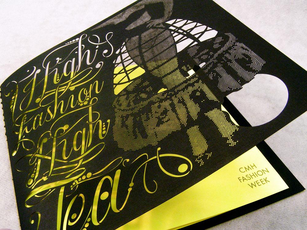 Custom Fashion Event Invite Laser Cut Card