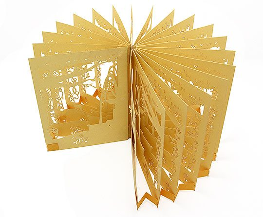 360 Degree Paper Wedding Invitation Card