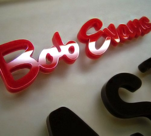 3D Company Sign Laser Cut for Bob Evans