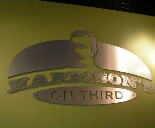 Harrison on Third Laser Cut Aluminum Sign