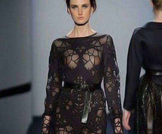 laser Cut Fashion Neoprene Dress