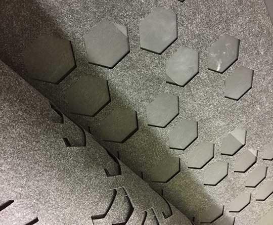 Laser Cut Felt Panel Divider Wall Covering